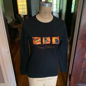 Halloween Pumpkin  T-shirt Top Size Small 4/6 EUC